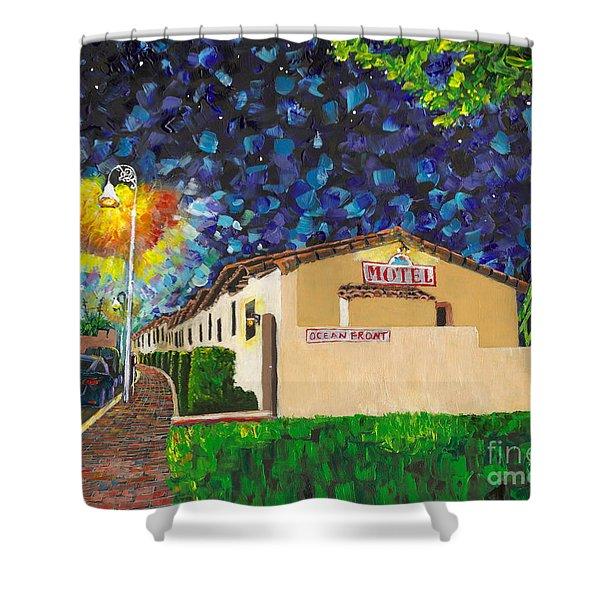 Beachcomber Motel Shower Curtain