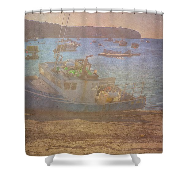 Shower Curtain featuring the photograph Beached For Cleaning by Tom Singleton