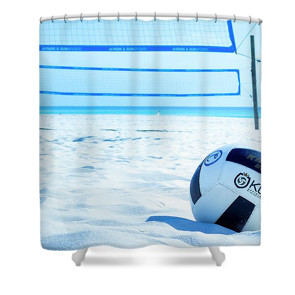 Volleyball On The Beach Shower Curtain