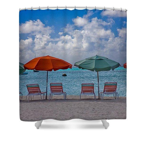 Beachie Keen Shower Curtain