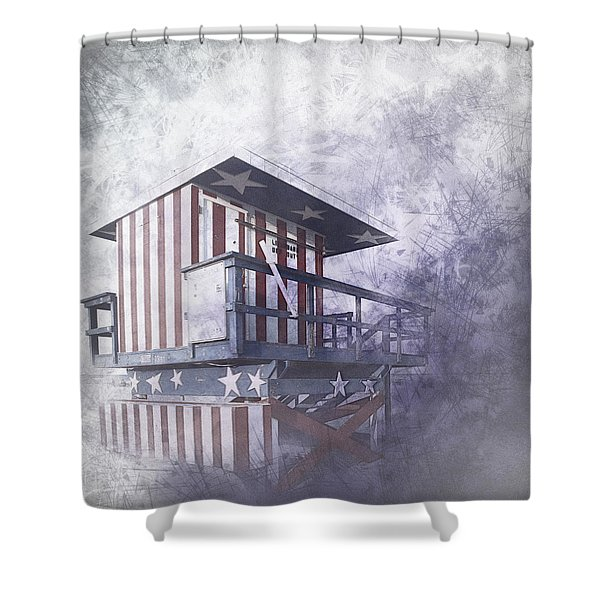 Beachlife In The Past Shower Curtain