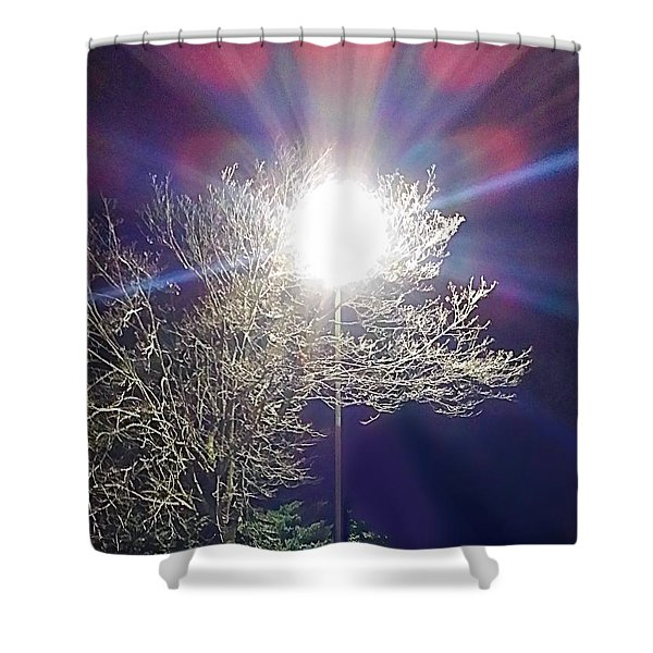 Beacon In The Night Shower Curtain