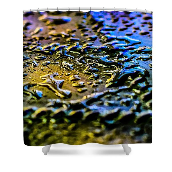 Beaded Water Texture Shower Curtain