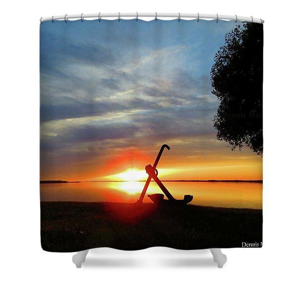 Beadles Point Sunset Shower Curtain