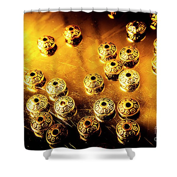 Beads From Another Universe Shower Curtain