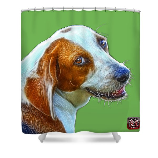 Beagle Dog Art- 6896 -wb Shower Curtain