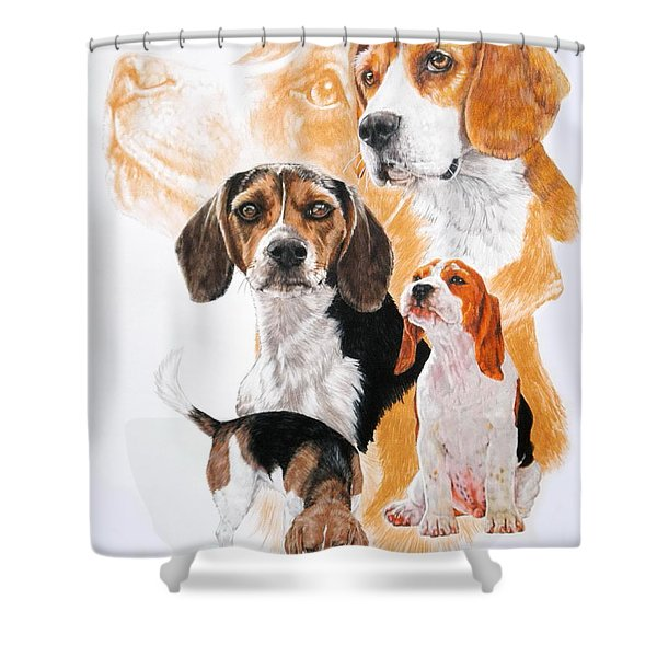 Beagle Hound Medley Shower Curtain