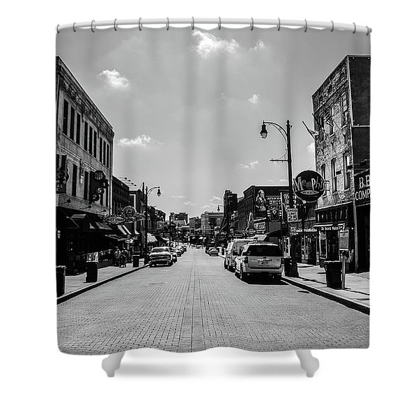 Beale Street Basics Shower Curtain