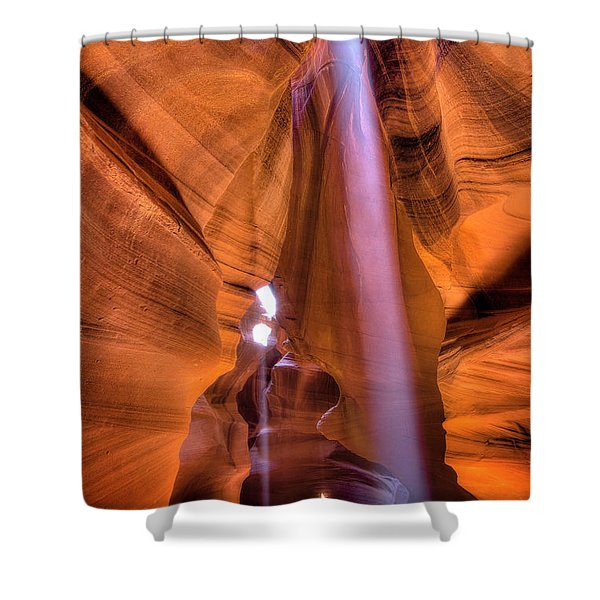 Beam Splitter Shower Curtain