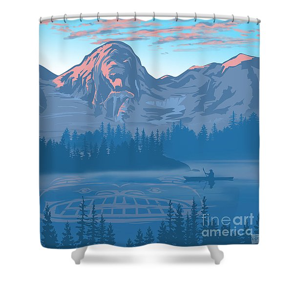 Bear Country Scenic Landscape Shower Curtain