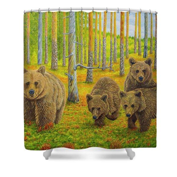 Bear Family Shower Curtain