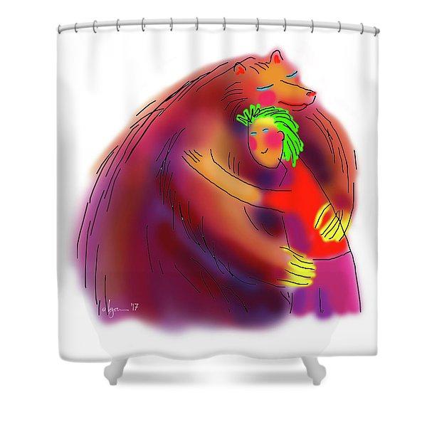 Bear Hug Shower Curtain