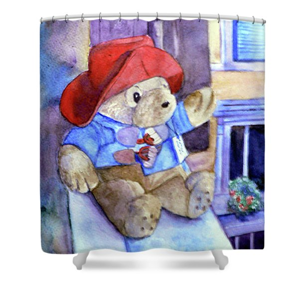 Bear In Venice Shower Curtain