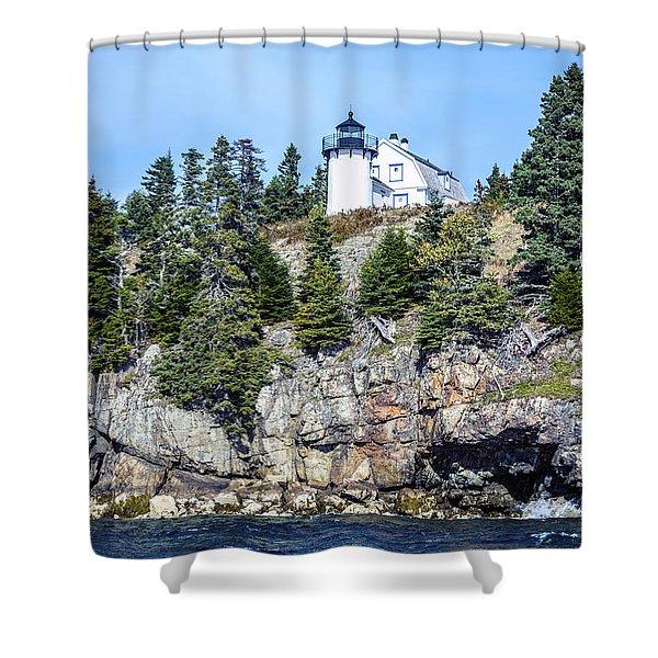 Bear Island Lighthouse Shower Curtain