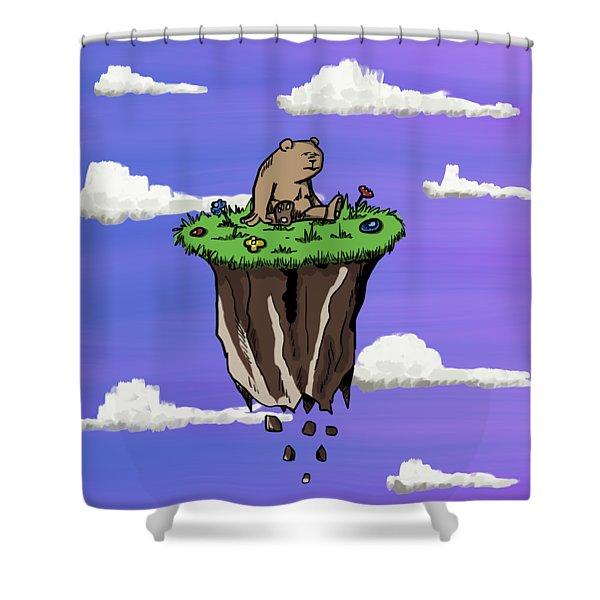 Bear Rock Shower Curtain