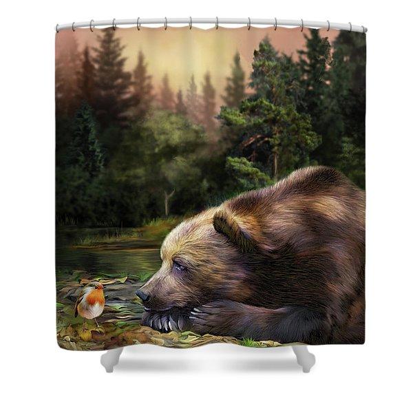 Bear's Eye View Shower Curtain
