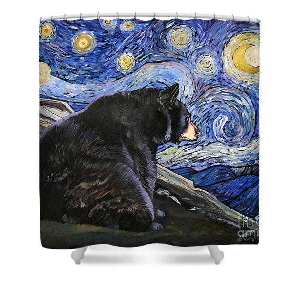 Beary Starry Nights Shower Curtain