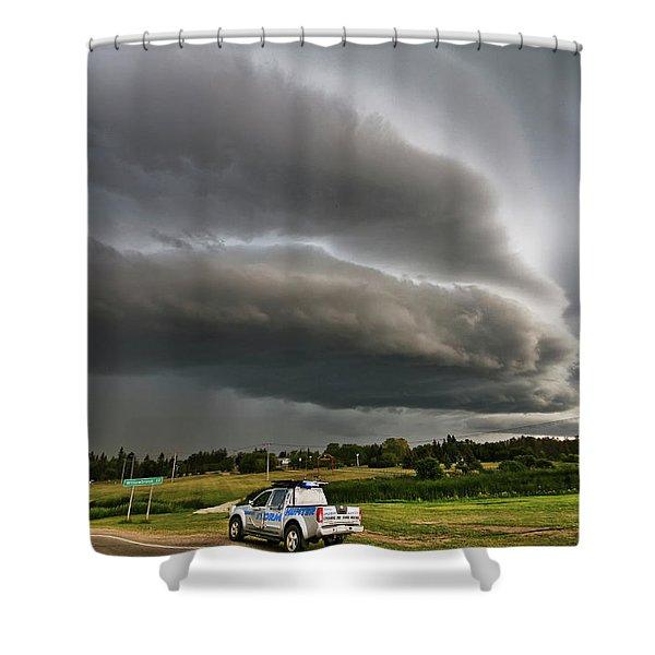 Beast Over Yorkton Shower Curtain