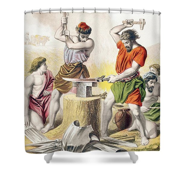 Beating The Swords Into Ploughshares Shower Curtain