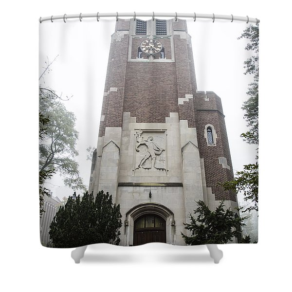 Beaumont Tower In The Fog  Shower Curtain