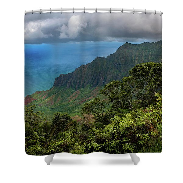 Beautiful And Illusive Kalalau Valley Shower Curtain