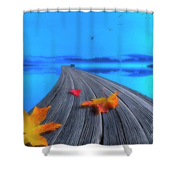 Beautiful Autumn Morning Shower Curtain