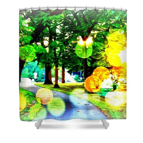 Beautiful Day For A Walk Shower Curtain
