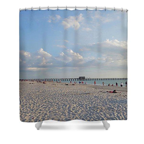 Beautiful Day On Naples Beach Naples Florida Shower Curtain