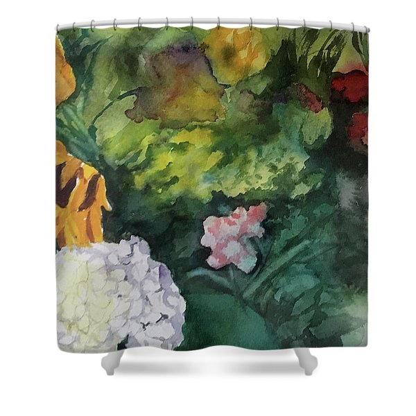 Beautiful Floral Jumble Shower Curtain