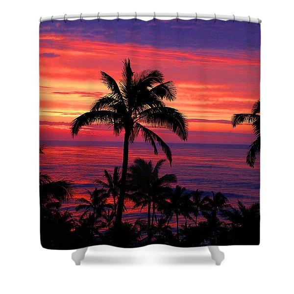 Beautiful Hawaiian Sunset Shower Curtain
