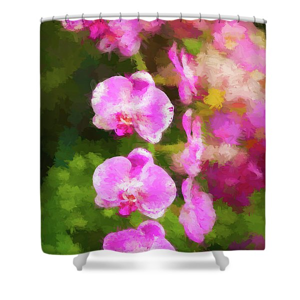 Beautiful Orchids Shower Curtain
