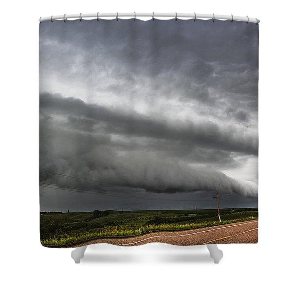 Beautiful Shelf Cloud Shower Curtain