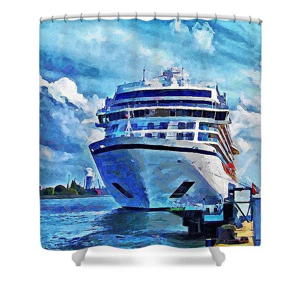 Beautiful Ship Shower Curtain