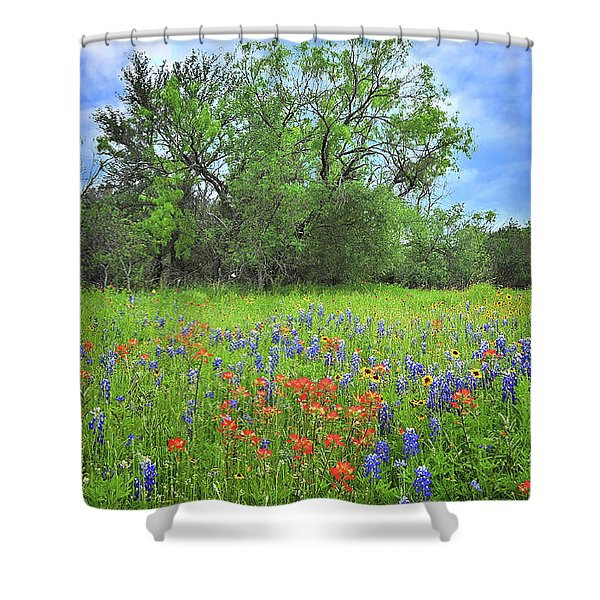 Beautiful Texas Spring Shower Curtain