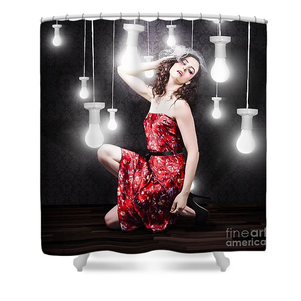 Beautiful Vogue Style Woman. Fashion Art Portrait Shower Curtain