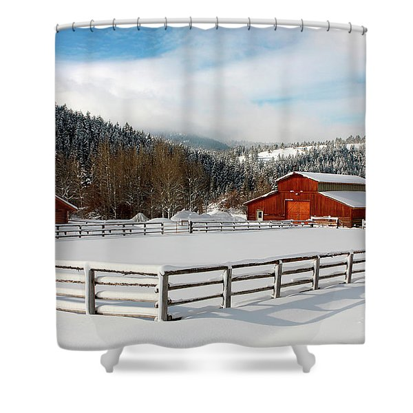 Shower Curtain featuring the photograph Beautiful Winter Morning by Ronnie and Frances Howard