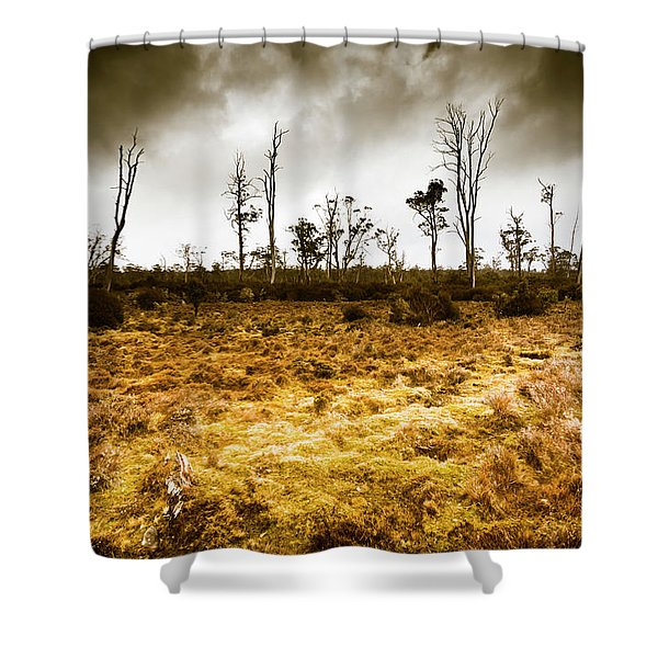 Beauty And Barren Bushland Shower Curtain