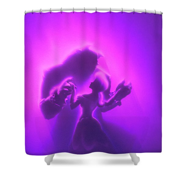 Shower Curtain featuring the mixed media Beauty Beast by David Millenheft