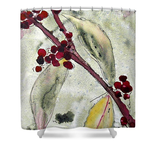 Beauty Berry Branch Shower Curtain