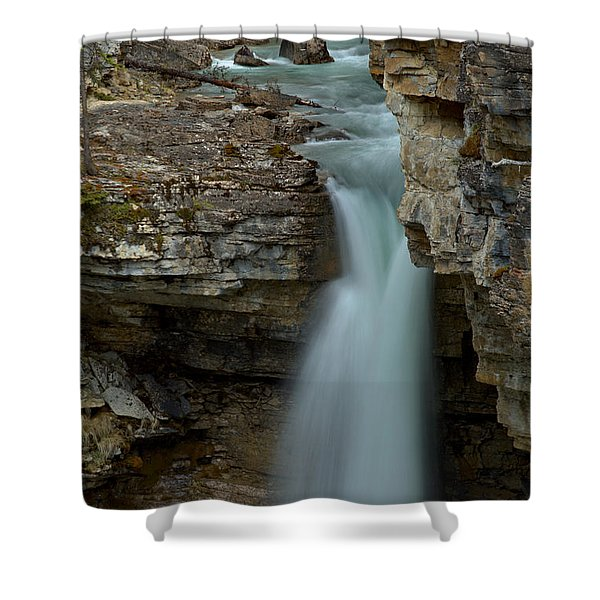 Beauty Creek Blue Falls Shower Curtain