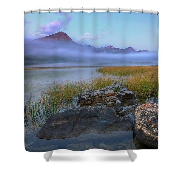Beauty Creek Dawn Shower Curtain