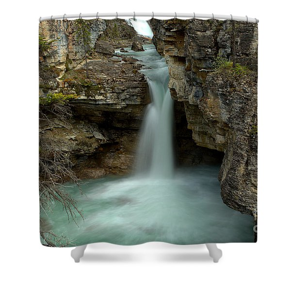 Beauty Creek Hidden Waterfall Canyon Shower Curtain