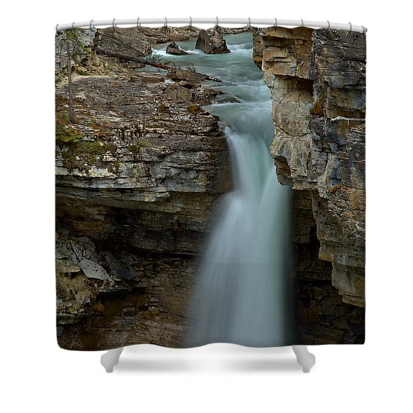 Beauty Creek Streams Od Blue Shower Curtain