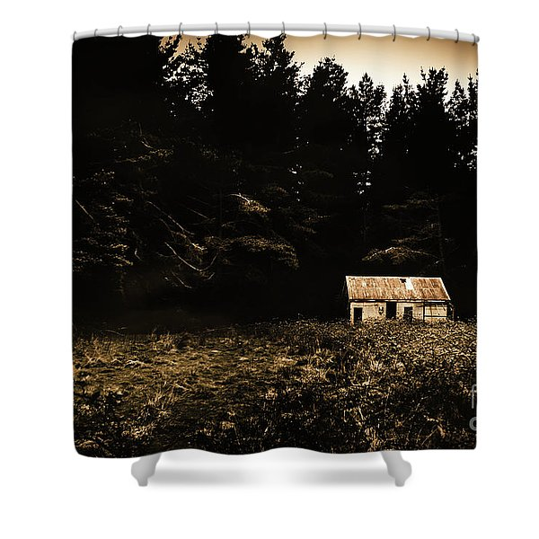Beauty In Dilapidation Shower Curtain