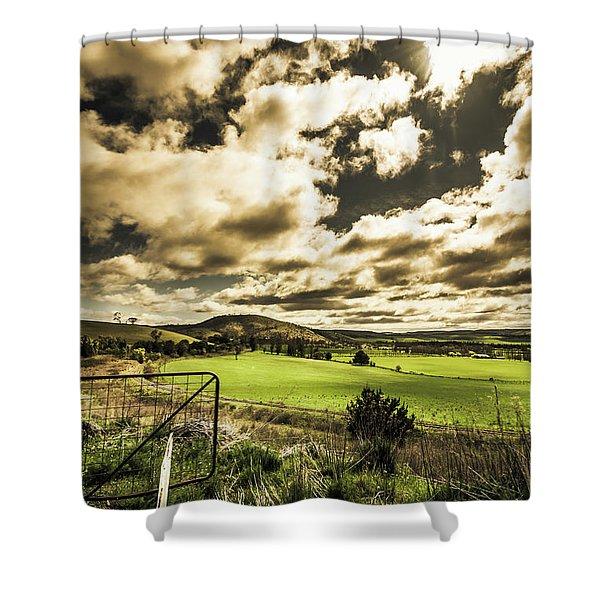 Beauty In Plain Contrast Shower Curtain