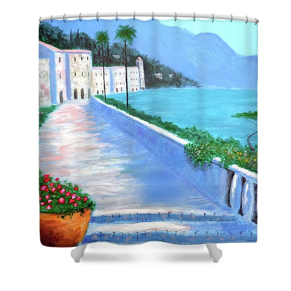 Beauty Of The Riviera Shower Curtain