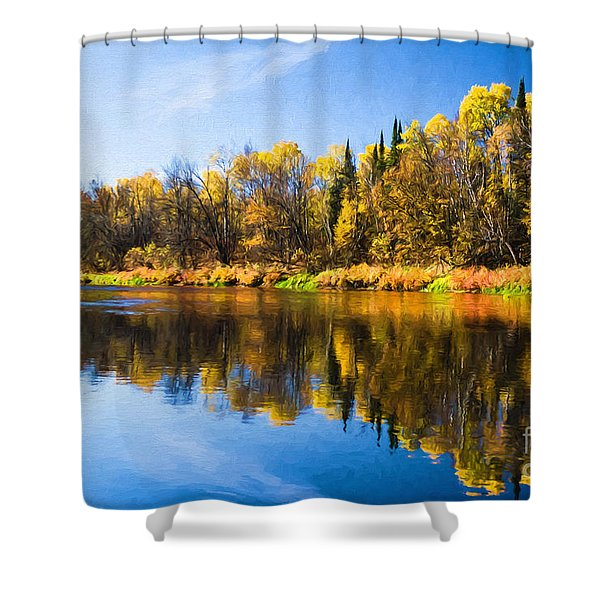 Beauty On The Big Fork Shower Curtain