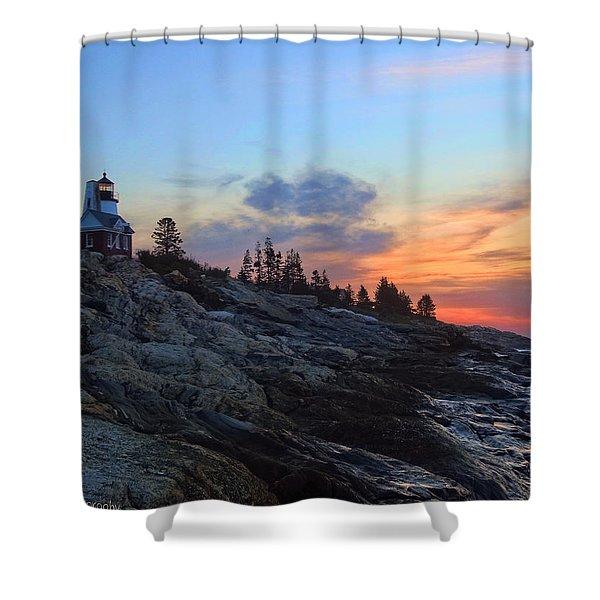 Beauty On The Rocks Shower Curtain