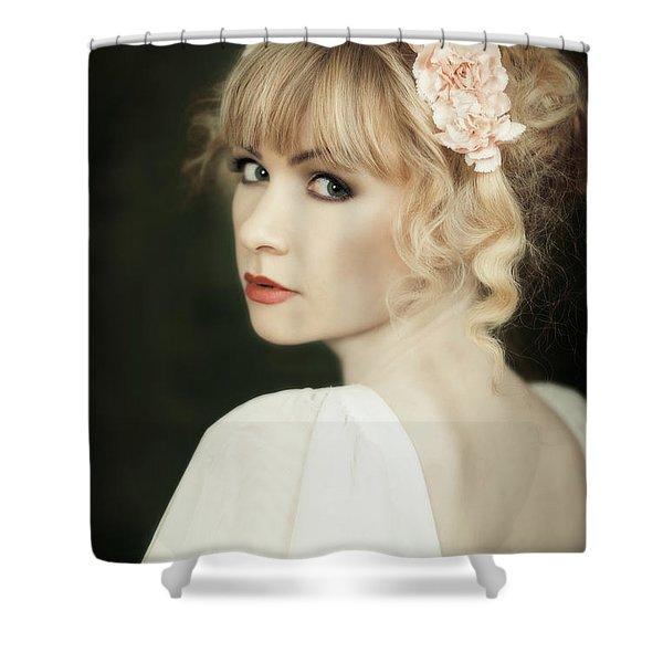 Beauty Portrait Shower Curtain