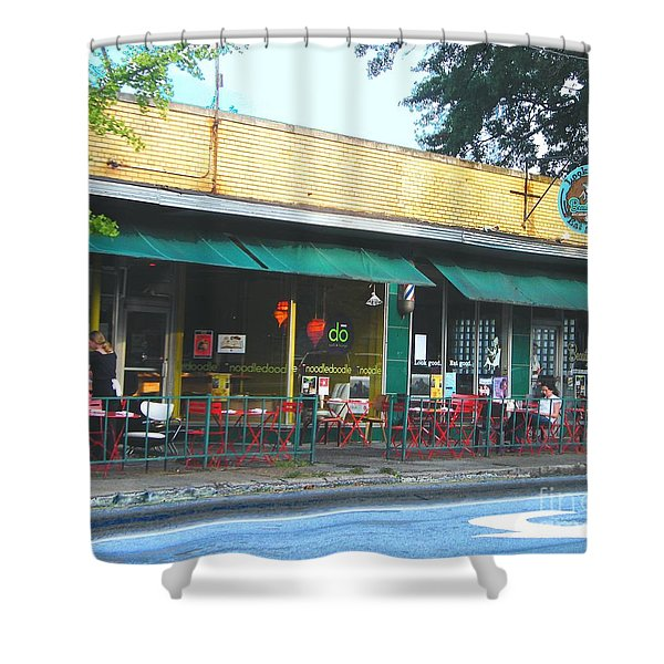 Beauty Shop And Do  Cooper Young Memphis Shower Curtain